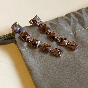 Karl Lagerfeld Pyramid Earrings